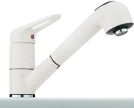 Franke 741 Glacier Niederdruck Armatur Weiß Schlauchbrause Einhandhebelmischer - 1