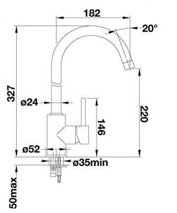 Grünblatt Niederdruck Küchenarmatur Einhebelmischer Wasserhahn küche Armatur Armaturen - 2
