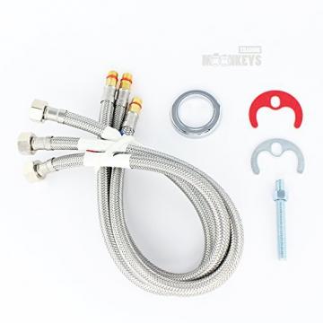 Niederdruck Wasserhahn Spültisch Armatur Küche Mischbatterie mit hohem Auslauf inkl. Befestigungsmaterial und Montageanleitung - 3