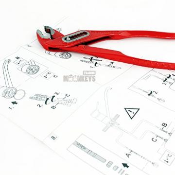 Niederdruck Wasserhahn Spültisch Armatur Küche Mischbatterie mit hohem Auslauf inkl. Befestigungsmaterial und Montageanleitung - 4