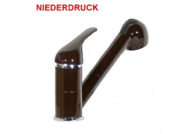 Küchenarmatur Spüle Wasserhahn Brause Mocca Niederdruck -