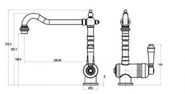 Grünblatt Niederdruck Nostalgie Landhausstil Matt Küche Armatur Küchenarmatur Einhebelmischer Wasserhahn küchenarmaturen armaturen -