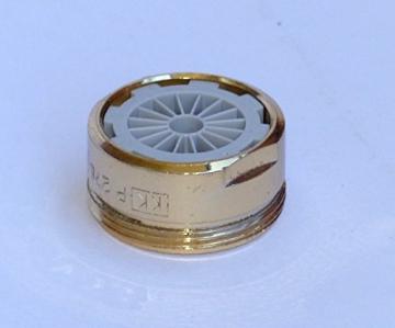 Edelmessing Gold Mischdüse Strahlregler Turbulator Niederdruck M 24 -