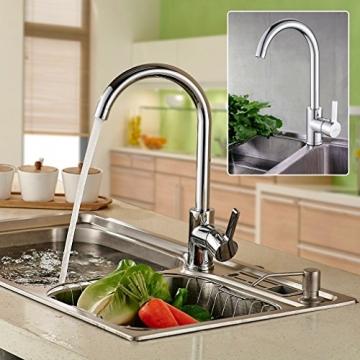 Auralum® 360° Drehbar Niederdruck Mischbatterie Armatur Wasserhahn Küchenarmatur Einhandmischer für Badezimmer Waschbecken ,verchrom -