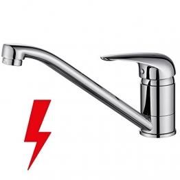Homelody® Chrom Wasserhahn Niederdruck Küche Armatur Wasserkran Einhebelmischer Küchearmatur Waschbecken Waschtischarmatur Spüle Waschbeckenarmatur Spültischarmatur -