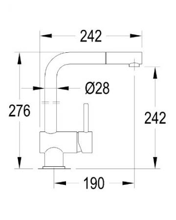 Grünblatt Weiß/Chrom Niederdruck Küchenarmatur mit herausziehbarer Geschirrbrause -