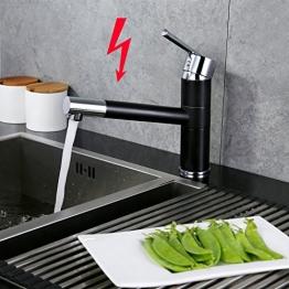 AuraLum ORB Schwarz Niederdruck Küche Armatur Spültischarmatur Waschtischarmatur Einhebelmischer Wasserhahn Mischbatterie in Küche Bad -